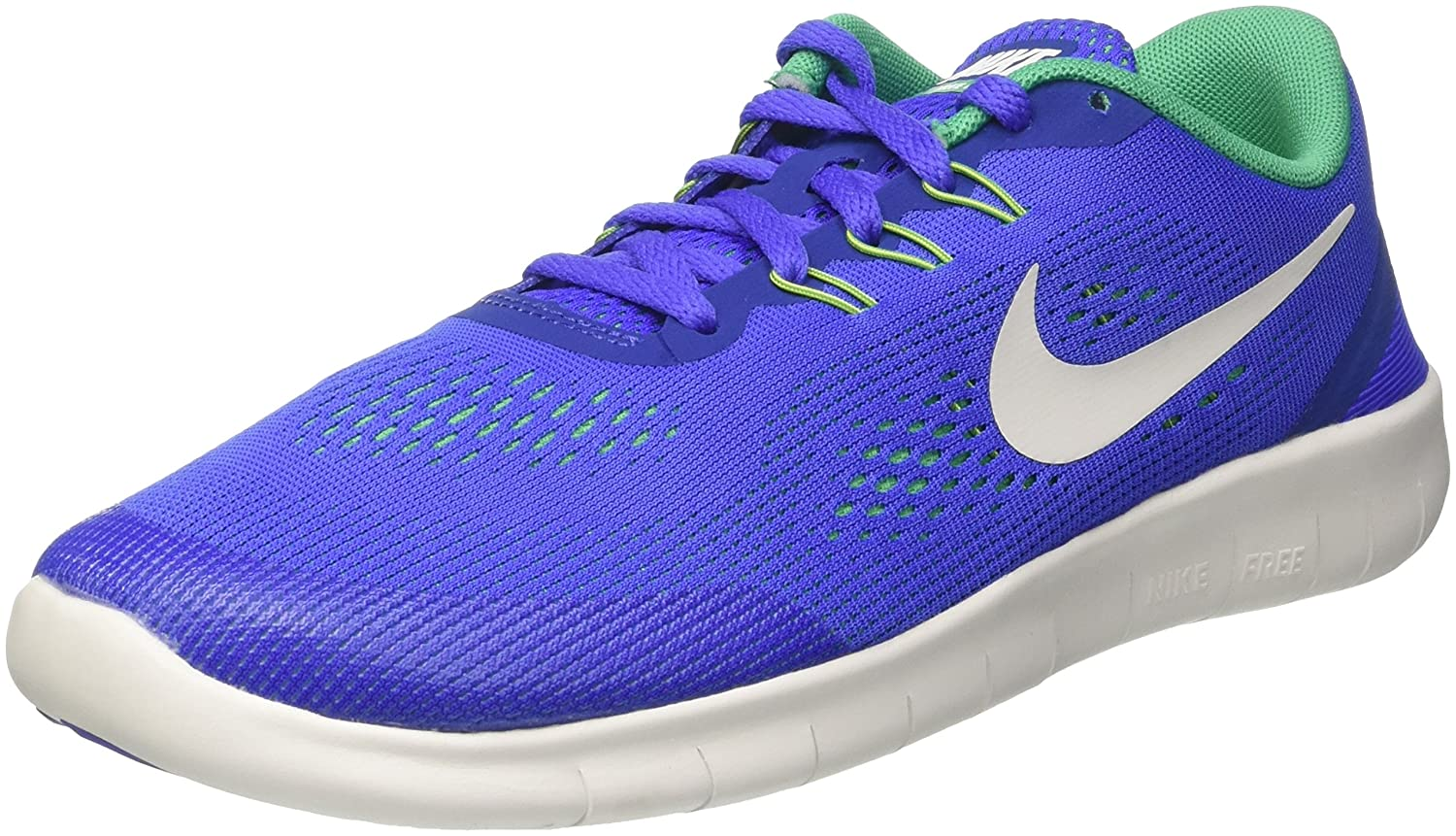 NIKE ' Free Rn (Big) B00AMJCNQS Youth Size 4.5|Paramount Blue/Pure Platinum