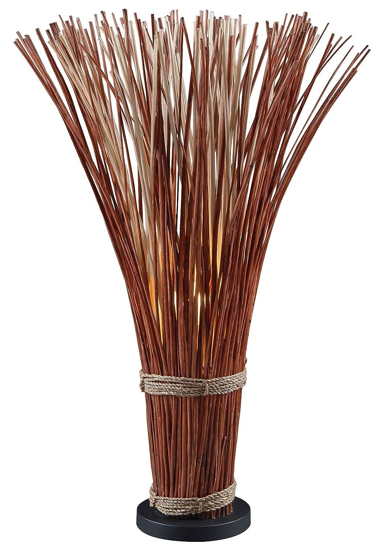 Kenroy Home 21065NR Sheaf Natural Reed Floor Lamp, 46 Inch Height, Brown
