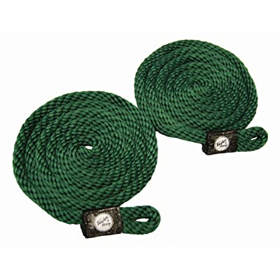 Taylor Made Products 11316 Fender Loc Line, 3/8 inch x 72 inch, Hunter Green, 2 Pack : Dock Lines And Rope : Sports & Outdoors