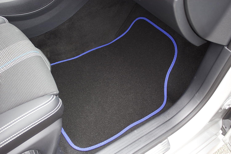 Talon soud/é Safe Travel 27650 Tapis de sol universels pour v/éhicules /à conduite /à gauche Coutures de couleur Noire