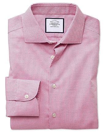 Charles Tyrwhitt Camisa Entallada Business Casual Antiarrugas Rosa ...