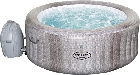Bestway Lay-Z-SPA Cancun AirJet - Jacuzzi hinchable, gris, 180 x 66 cm