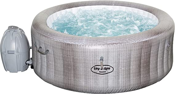 Bestway Lay-Z-SPA Cancun AirJet - Jacuzzi hinchable, gris, 180 x 66 cm: Amazon.es: Jardín