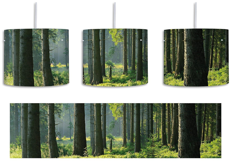 Lámpara de techo con diseño de día soleado en el bosque ...