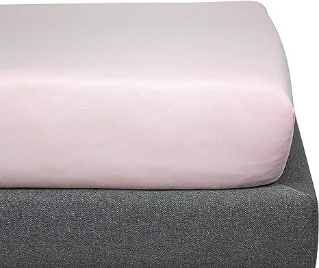 Kadolis Sábana Bajera de algodón orgánico - Infantil 90 x 140 cm Rosa polvoroso: Amazon.es: Hogar