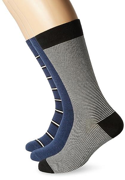 Lacoste Ra7784, Calcetines para Hombre, Azul (Ancre Chine/Noir-Farine), 46 (Talla del Fabricante: 6): Amazon.es: Ropa y accesorios