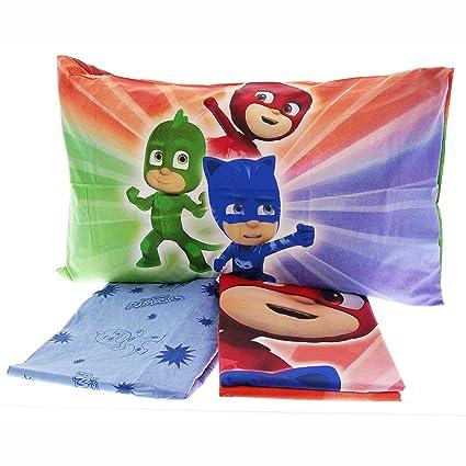 Juego de sábanas de PJ Masks para cama invididual, 100 % algodón