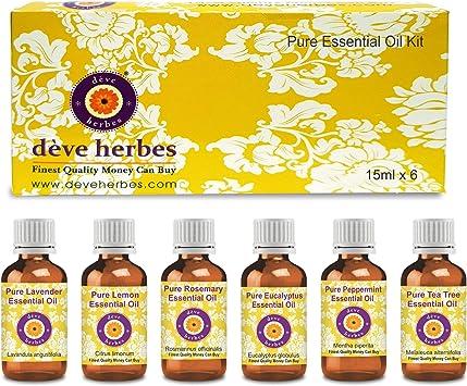 Kit de Aceites Esenciales Deve Herbes 100% Vapor Natural ...