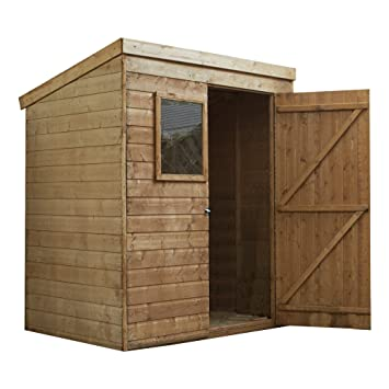 6x4 Wooden Tongue U0026 Groove Garden Storage Shed, Windows, Single Door, Solid  Sheet