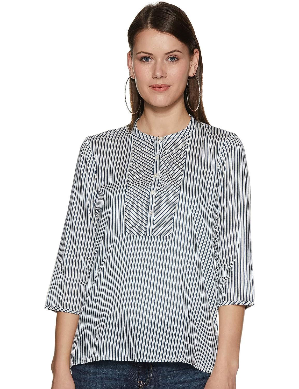 Styleville.in Women's Striped Regular Fit Top