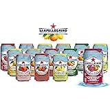 San Pellegrino Sparkling Fruit Beverages - All Flavor Variety Pack (Sampler), 11.15 Fl Oz Cans, Naturally Flavored…