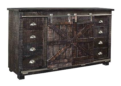 Credenza Dark Brown : Amazon.com treasure trove accents 17658 eight drawer two sliding