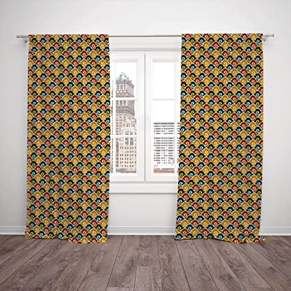 Thermal Insulated Blackout Window Curtain,Abstract,Colorful