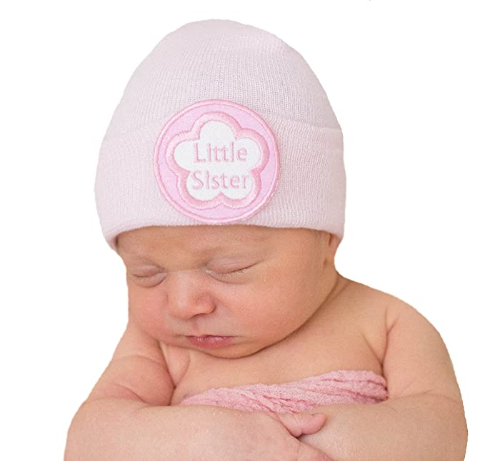 93789c70f28 Image Unavailable. Image not available for. Color  Melondipity s Little  Sister Newborn Girl Pink Hospital Hat