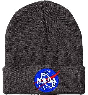 Amazon.com  NASA Logo Embroidered Long Knit Beanie - Royal OSFM ... 4323188664d