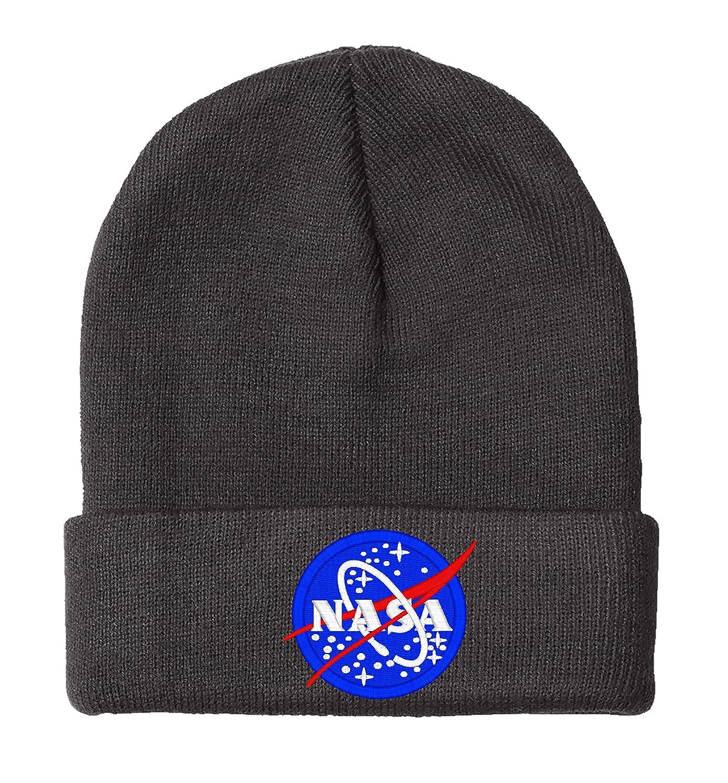 Amazon.com  NASA- Beanie-Black  Clothing d45f1b55c14