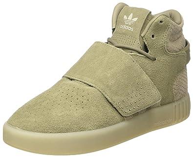 ca3819f7b9d3 adidas Men s s Tubular Invader Strap Sneaker Turtleneck Grey Trace  Cargo Sesame