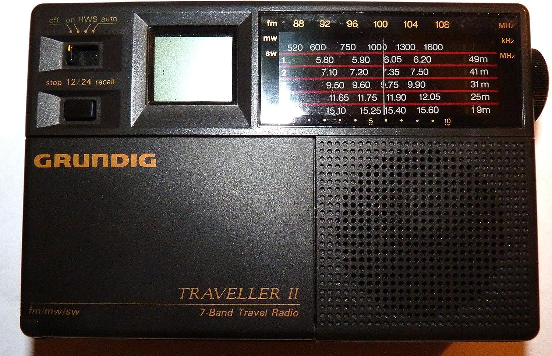 Grundig Traveller II 7 Band Worldtime Travel Radio