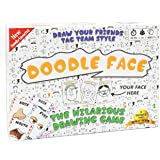 Doodle Face Game - New Hilarious Game of Drawing Your Friends and Family - A Drawing Game for Families - Stay at Home Date Ni
