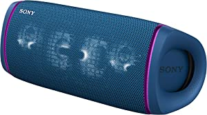 Sony SRS-XB43 EXTRA BASS Wireless Portable Speaker IP67 Waterproof BLUETOOTH 24 Hour Battery and Built In Mic for Phone Calls, Blue