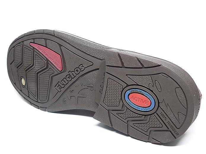 Zapatos hombre con cordones FLUCHOS - Piel color marron - 9482 - 83 (44, marron)