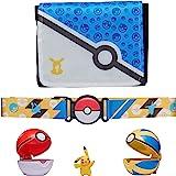 Pokemon Bandolier Set - Features a 2-Inch Pikachu Figure, 2 Clip 'N' Go Poke Balls, a Clip 'N' Go Poke Ball Belt, and a Clip