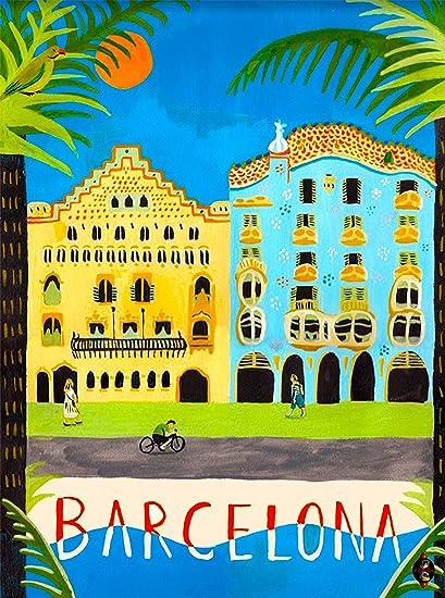 New Amazon.com: Barcelona Spain Spanish European Europe Vintage Travel  TG86