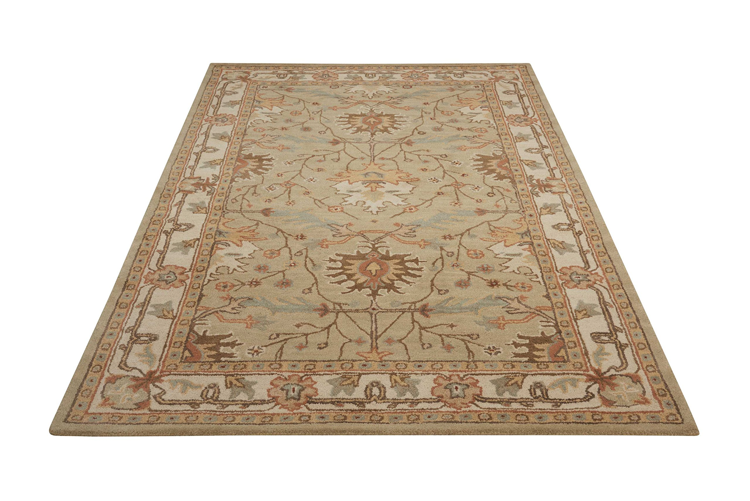 Nourison India House (IH76) Sage Rectangle Area Rug, 2-Feet 6-Inches by 4-Feet (2'6'' x 4') by Nourison (Image #3)