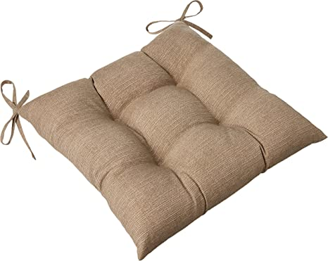 Indoor//Outdoor Monti Chino Wicker Seat Tufted Seat Cushions Round Back
