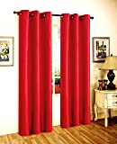 "Gorgeous Home *DIFFERENT SOLID COLORS & SIZES* (#72) 1 PANEL SOLID THERMAL FOAM LINED BLACKOUT HEAVY THICK WINDOW CURTAIN DRAPES BRONZE GROMMETS (RED, 63"" LENGTH)"