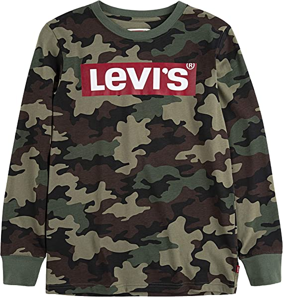 Levi's Boys' Long Sleeve Box Tab Graphic T-Shirt