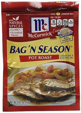Mccormick Cooking Bag & Seasoning Mix Pot Roast 0.81 Oz - 4 packs