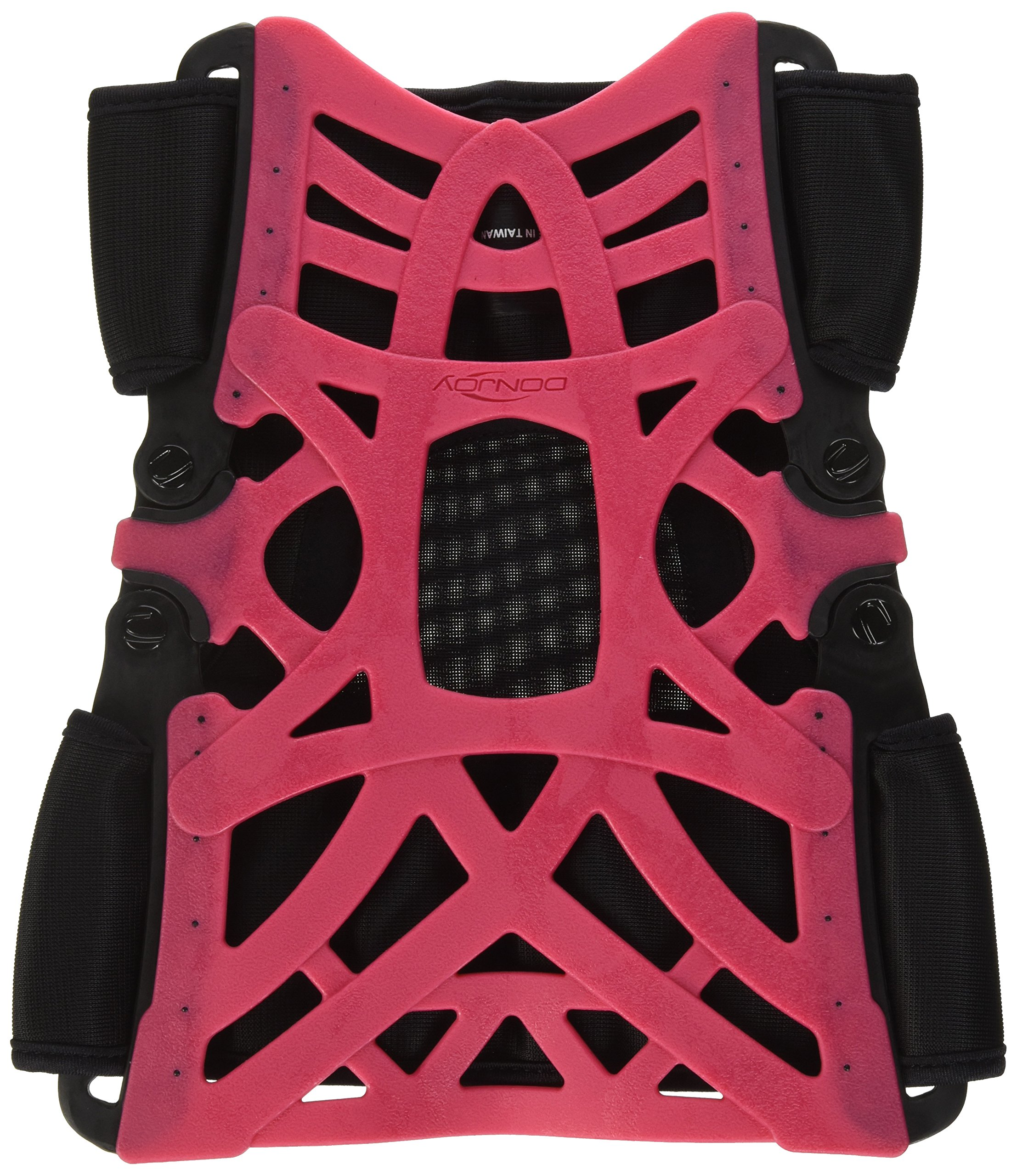 DonJoy Reaction Web Knee Support Brace with Compression Undersleeve: Pink, Medium/Large