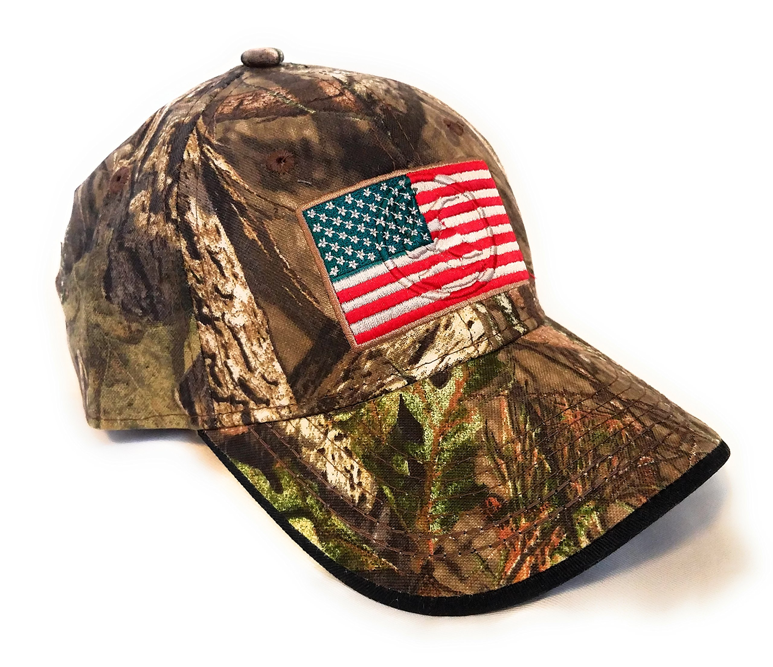 Mossy Oak Camping, Hunting, Outdoors American Flag Camo Cap, Army Military Camo Cap Baseball, Camouflage Hat