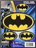 Chroma 25015 Black and Gold Batman Logo Decal - 3 Piece