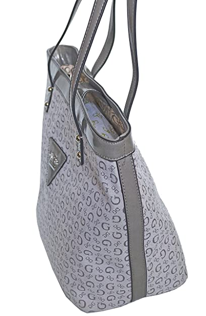Guess Signature Tansy Purse Handbag in Grey  Handbags  Amazon.com 327aa594ce1f3