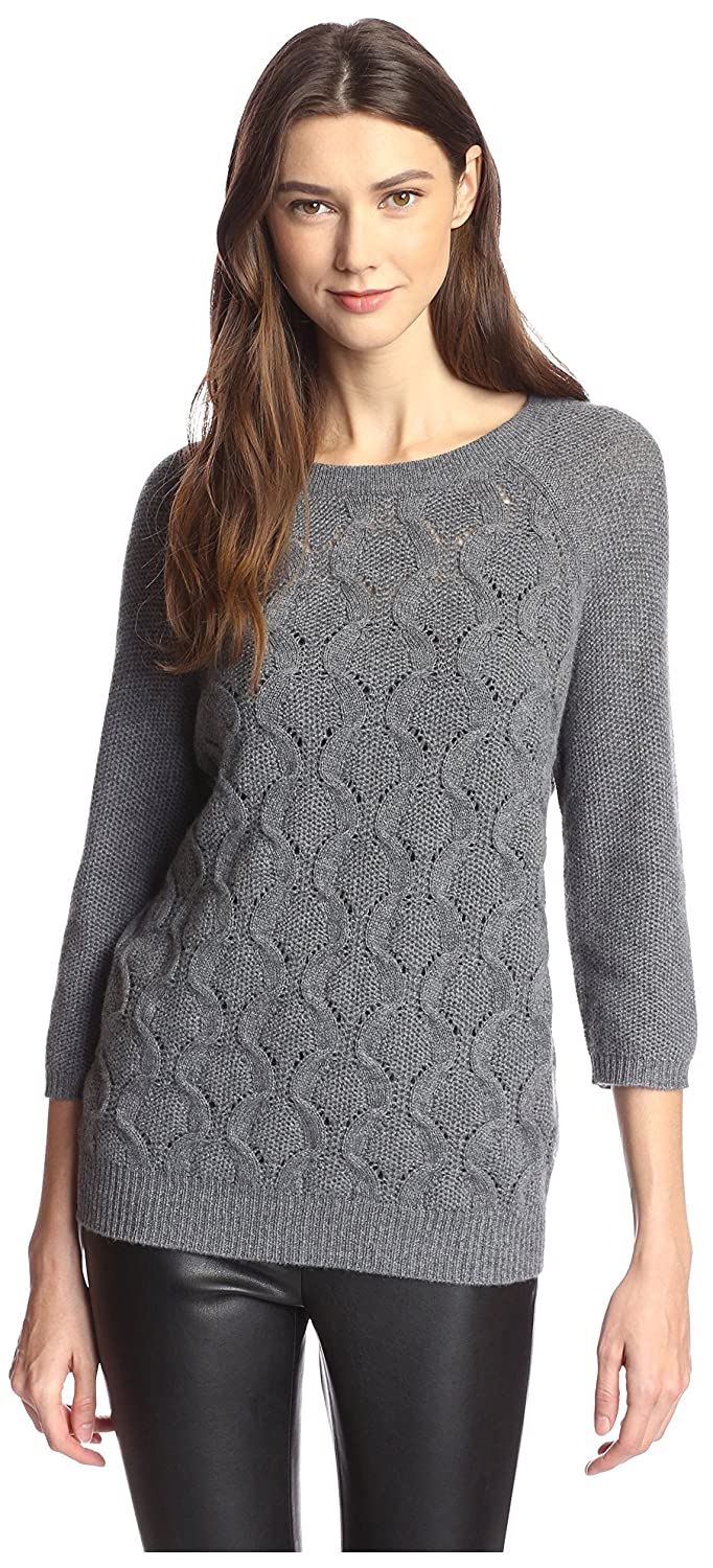 9ebe887a29e Amazon.com  James   Erin Women s Boat Neck Cable Cashmere Sweater  Clothing