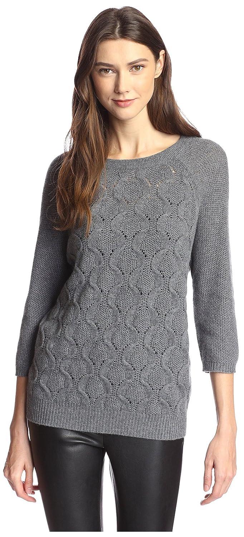 cdea3c4fa Amazon.com  James   Erin Women s Boat Neck Cable Cashmere Sweater ...