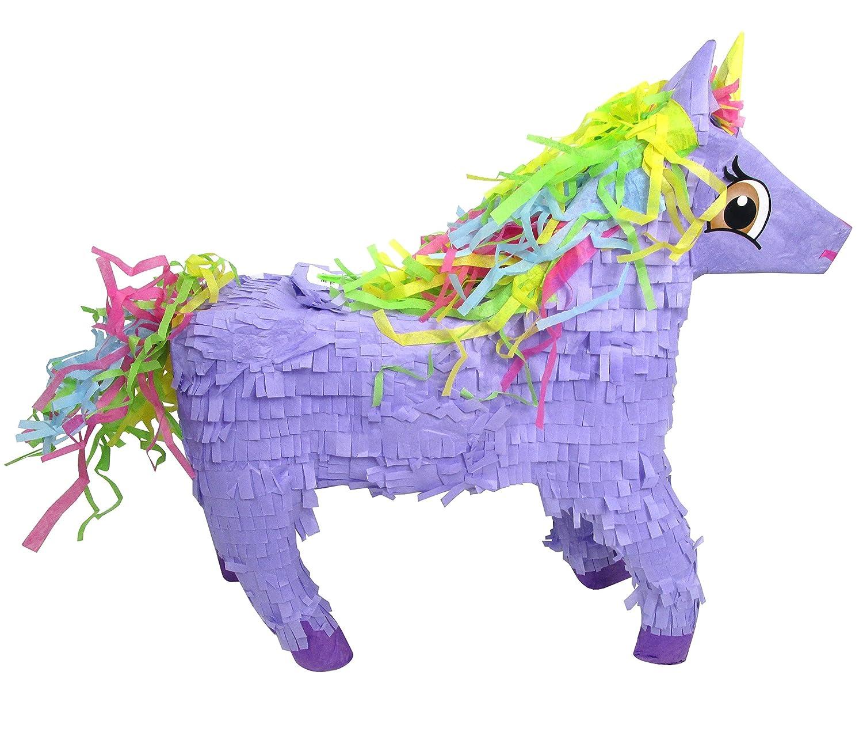 Pinatas Unicorn with Rainbow Mane Purple PWC763