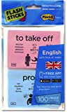 FlashSticks English Flash Cards (Intermediate) | Best Way to Learn to Speak or Improve English | No Language Courses Needed | Advanced Vocabulary Study Cards Make Learning a Game | Online App Helps With Pronunciation | Perfect For Adults & Kids