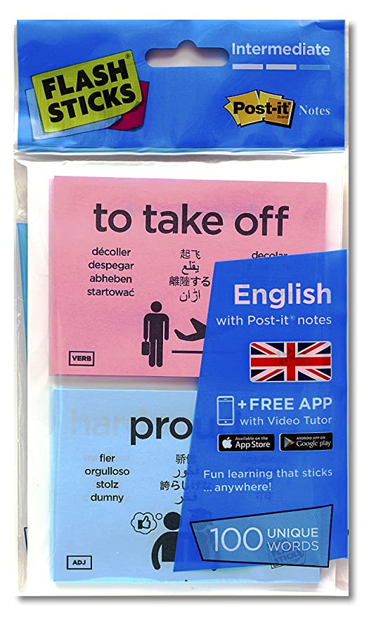 FlashSticks English Flash Cards (Intermediate) | Best Way to Learn to Speak or Improve