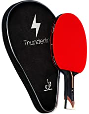 Thunderline 6 star premium ping pong paddle - BONUS professional case - Advanced table tennis racket - ITTF approved rubber