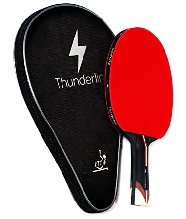 Thunderline 6 Star Premium Ping Pong Paddle – Bonus Professional Case – Advanced Table Tennis Racket – ITTF Approved Rubber