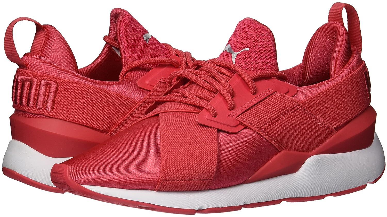 PUMA Women's Muse Satin En Pointe Wn Sneaker B07569HY18 White 8.5 B(M) US|Paradise Pink-puma White B07569HY18 e25c34