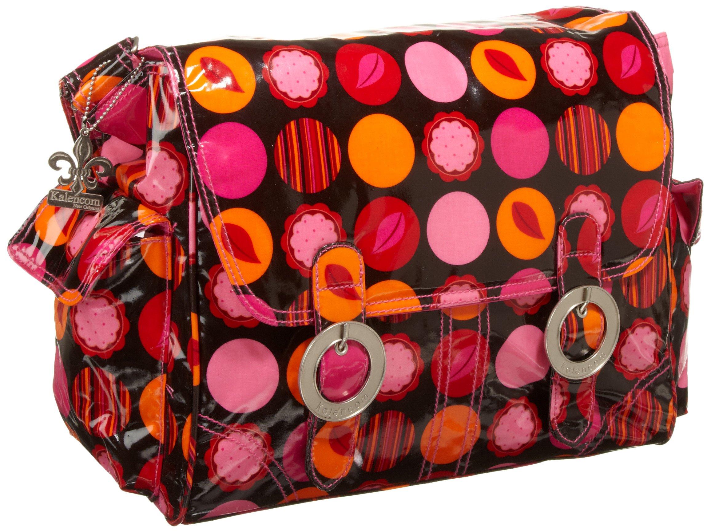 Kalencom Coated Double Buckle Bag, Mod Dots Fire by Kalencom (Image #1)