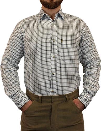 Camisa de Manga Larga para Hombre, diseño de Cuadros: Amazon.es: Ropa y accesorios