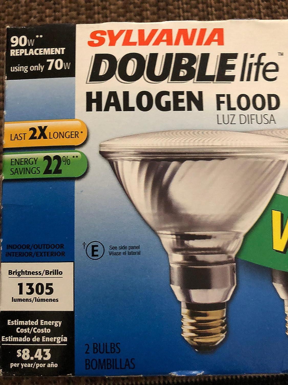 SYLVANIA 2-Pack 70-Watt PAR38 Medium Base Warm White Dimmable Outdoor Halogen Flood Light Bulbs - - Amazon.com