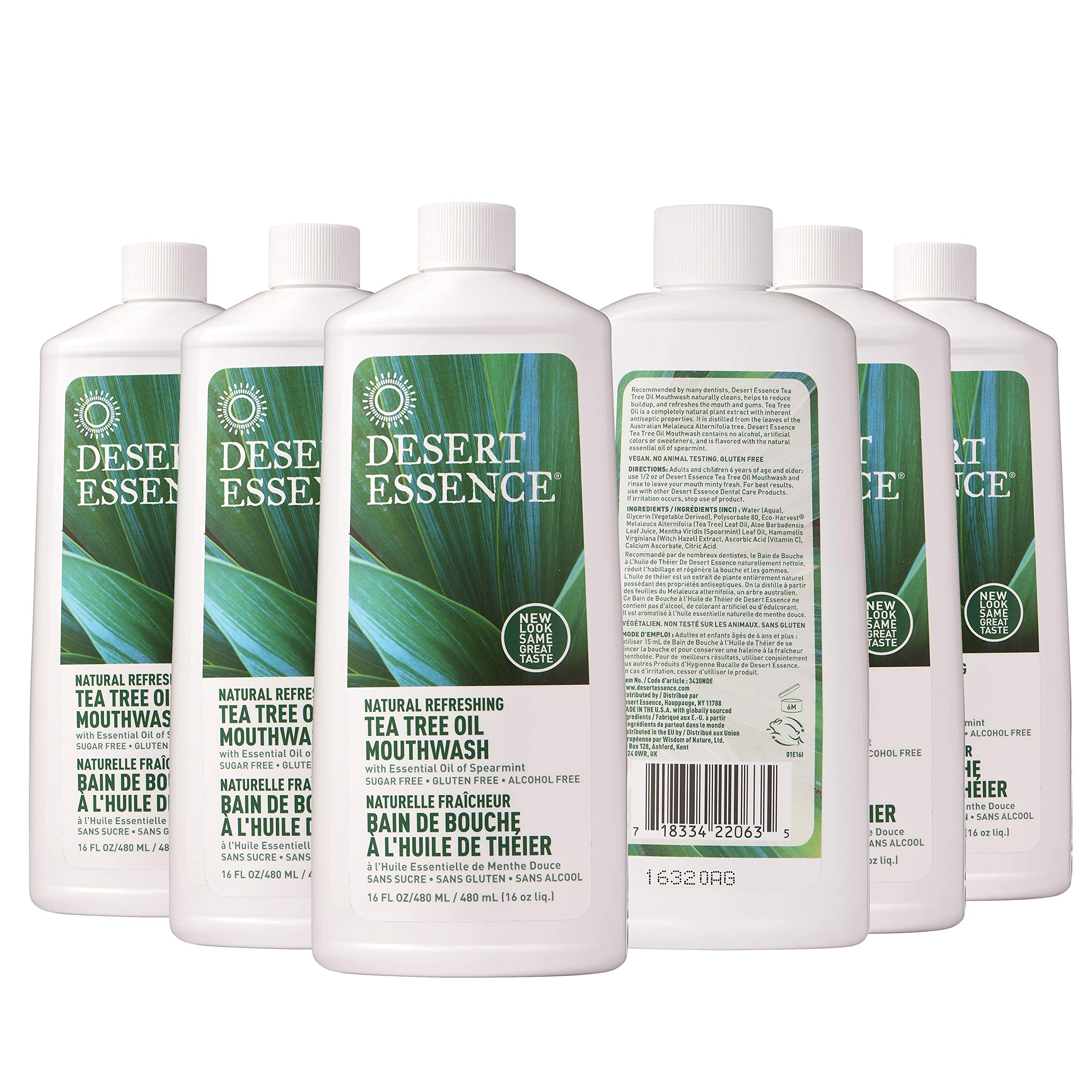 Natural Tea Tree Oil Mouthwash(6pk) - 16 fl oz
