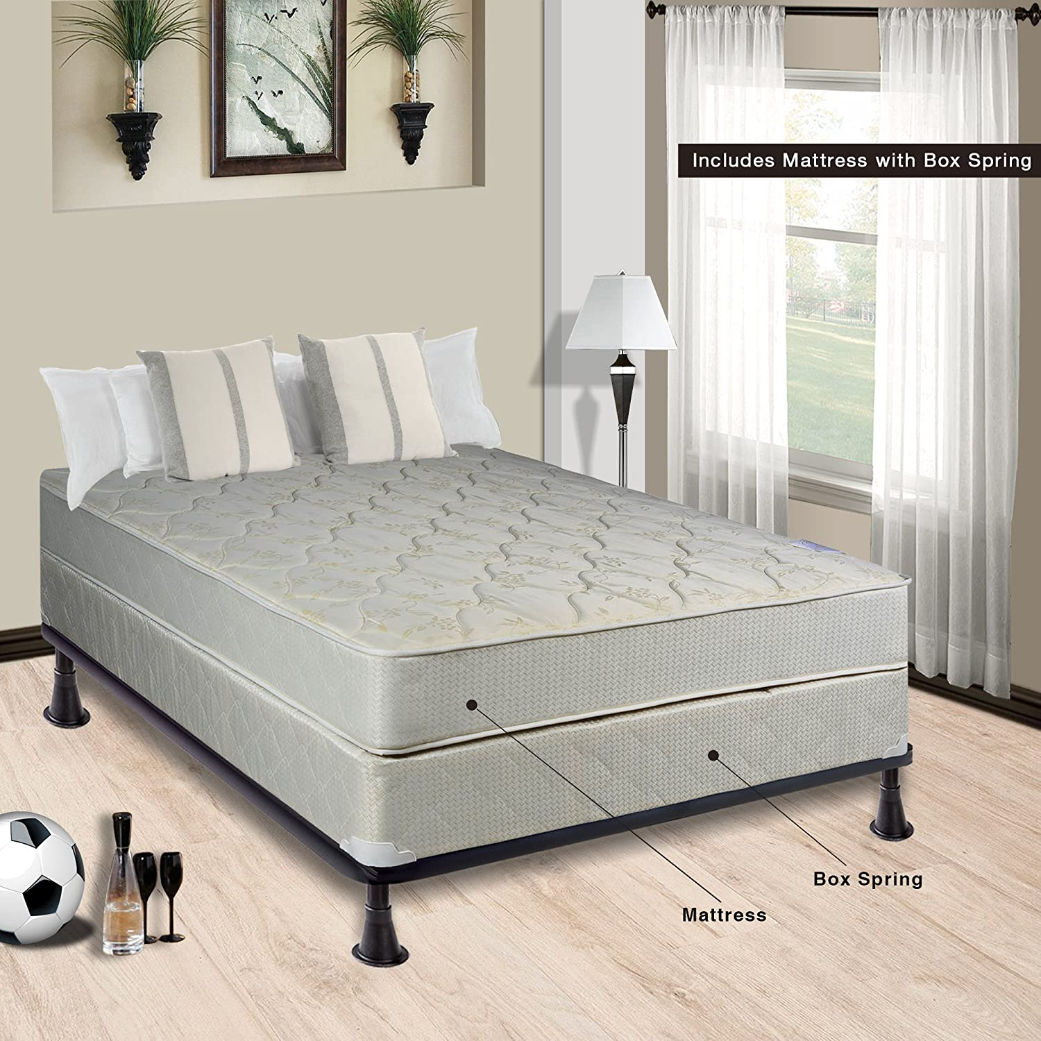size box ip and queen spring sided mattress pillowtop walmart comfort bed double com set