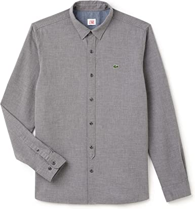Lacoste L!VE Ch7780 Camisa, Gris (Palladium Mouline), 40 (Talla ...